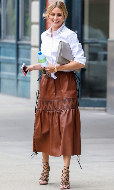 Olivia Palermo Spotted Out In New York