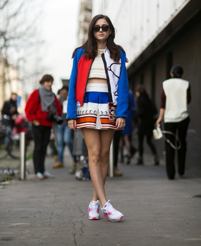 EXCLUSIVE Milan Fashion Week Womenswear Spring/Summer 2015 - Street style