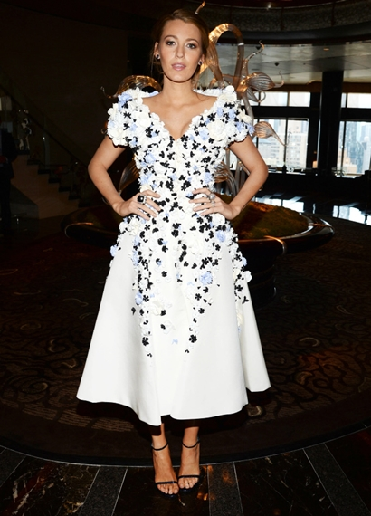 Blake Lively Arrives to Her Allure Magazine Cover Party