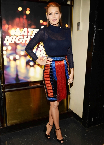 Blake Lively Backstage At Late Night With Seth Meyers