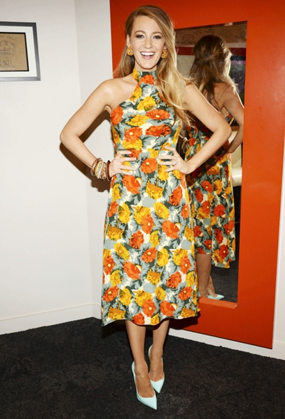 Blake Lively Backstage At The Chew