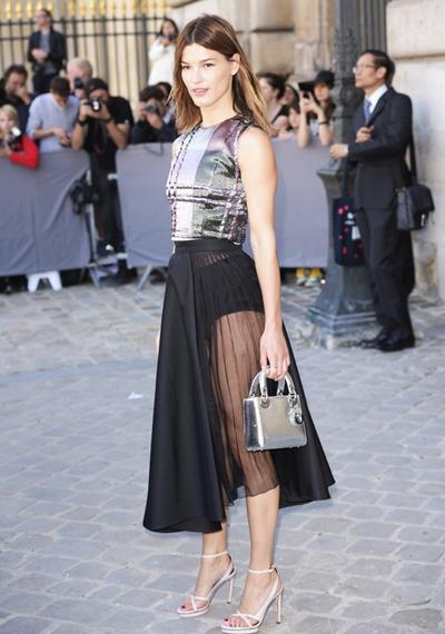 CELEBRITES : Defile Dior - Pret a porter - 26/09/2014 -