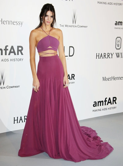 Mandatory Credit: Photo by Matt Baron/BEImages (2710474ev) Kendall Jenner amfAR's 22nd Cinema Against AIDS Gala, Cannes, France - 21 May 2015