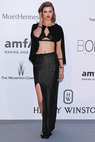 Lindsey Wixson arrives at the 22nd amfAR Cinema Against AIDS 2015 gala at the Hotel du Cap-Eden-Roc in Antibes, France on May 21, 2015.  The event, held each year during the annual Cannes Film Festival, raises funds for AIDS research.   Photo by David Silpa/UPI Photo via Newscom