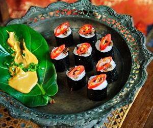 Resipi Sushi Serunding Bersama Mentega Kacang Pedas dari Chef Adu Amran