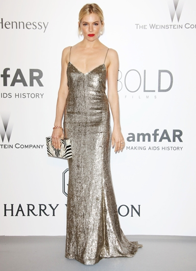 Mandatory Credit: Photo by Matt Baron/BEImages (2710474ft) Sienna Miller amfAR's 22nd Cinema Against AIDS Gala, Cannes, France - 21 May 2015