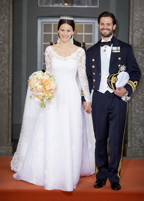 The wedding of Prince Carl Philip and Sofia Hellqvist, Royal Palace, Stockholm, Sweden - 13 Jun 2015