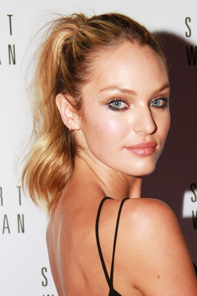 Candice Swanepoel ponytail