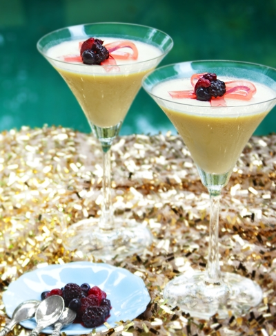 Panna Cotta Yogurt Greek Bersama Feuillet Beri1