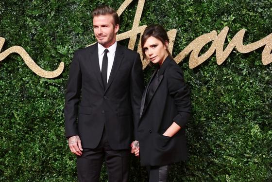 David & Victoria Beckham British Fashion Awards 2015