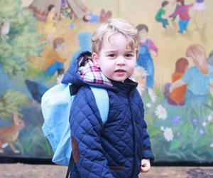 Hari Pertama Putera George Di Nursery School