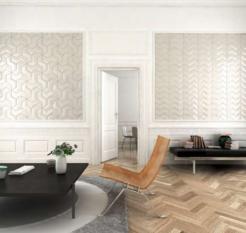 Harringbone Floor Versa Tile Wall