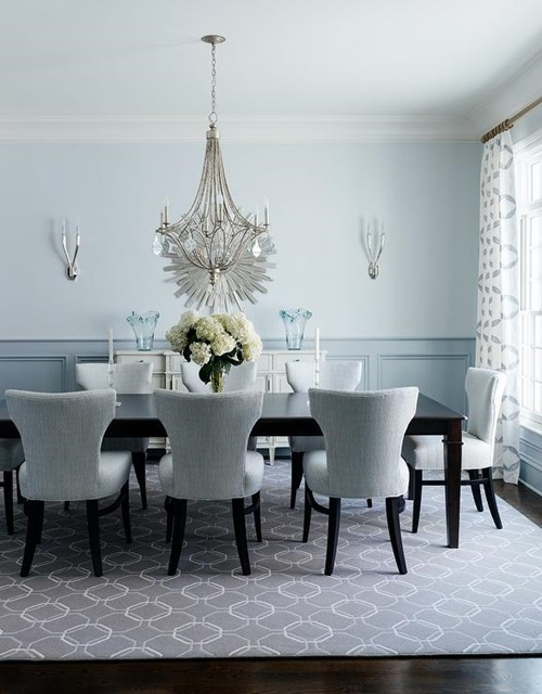 grey-and-blue-dining-room-wainscoting-dark-stained-dining-table