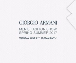 Live Streaming: Giorgio Armani dari Milan