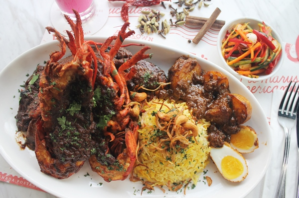 The mouth-watering Lobster Briyani Gam from Pince & Pints, paired perfectly with Buzzy Bandung