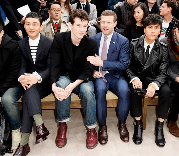 Burberry AW14 Menswear Show – Front Row & Runway