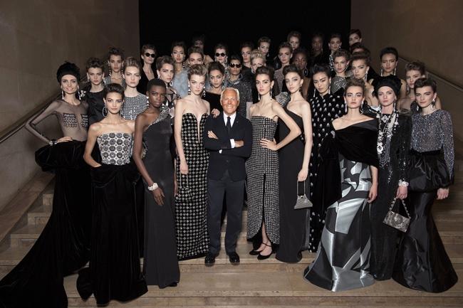 Giorgio Armani and models - SGP