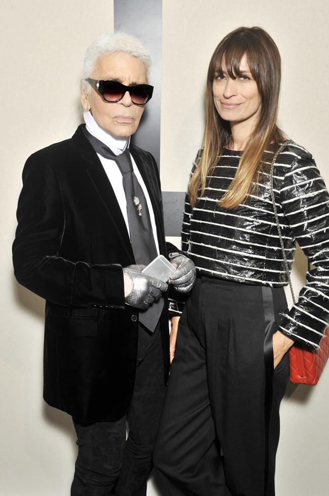 Karl Lagerfeld and Caroline de Maigret - photo Stphane Feugre