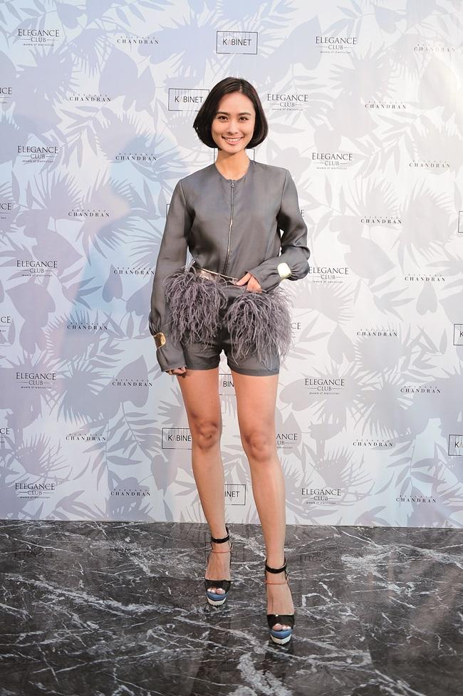 Lenna Lim wearing Bernard Chandran SS16