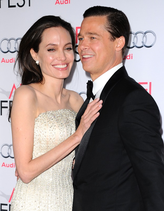 -Hollywood, CA - 08/05/2015 By The Sea Opening Night Gala Premiere AFI FEST 2015 -PICTURED: Angelina Jolie Pitt, Brad Pitt -PHOTO by: Sara De Boer/startraksphoto.com -SDL_0873 Startraks Photo New York, NY  For licensing please call 212-414-9464 or email sales@startraksphoto.com
