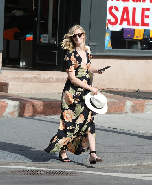 New York, NY - 07/02/16 Beth Behrs ('2 Broke Girls') walking by herself on a windy day after leaving her Off-Broadway play with co-star Erik Lochtefeld and his family, in the West Village -PICTURED: Beth Behrs -PHOTO by: Adam Nemser/startraksphoto.com -NEM_47856.JPG Editorial - Rights Managed Image - Please contact www.startraksphoto.com for licensing fee Startraks Photo New York, NY For licensing please call 212-414-9464 or email sales@startraksphoto.com Image may not be published in any way that is or might be deemed defamatory, libelous, pornographic, or obscene. Please consult our sales department for any clarification or question you may have. Startraks Photo reserves the right to pursue unauthorized users of this image. If you violate our intellectual property you may be liable for actual damages, loss of income, and profits you derive from the use of this image, and where appropriate, the cost of collection and/or statutory damages.
