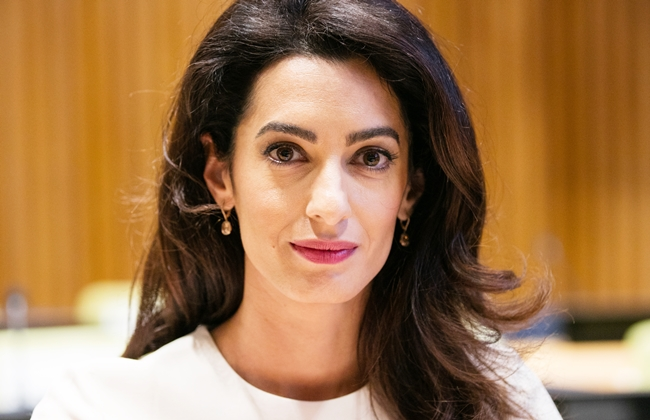 United Nations, New York, USA, September 16 2016 - Amal Clooney, International human rights lawyer Participated on the Appointment Ceremony of Nadia Murad Basee Taha as UNODC Goodwill Ambassador for the Dignity of Survivors of Human Trafficking today at the UN Headquarters in New York. Photo by: Luiz Rampelotto/EuropaNewswire *** Please Use Credit from Credit Field ***
