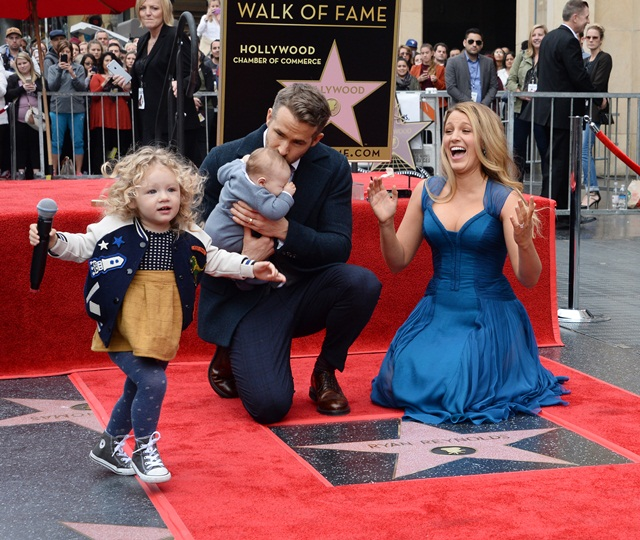Ryan Reynolds honored with star on Hollywood Walk of Fame in Los Angeles