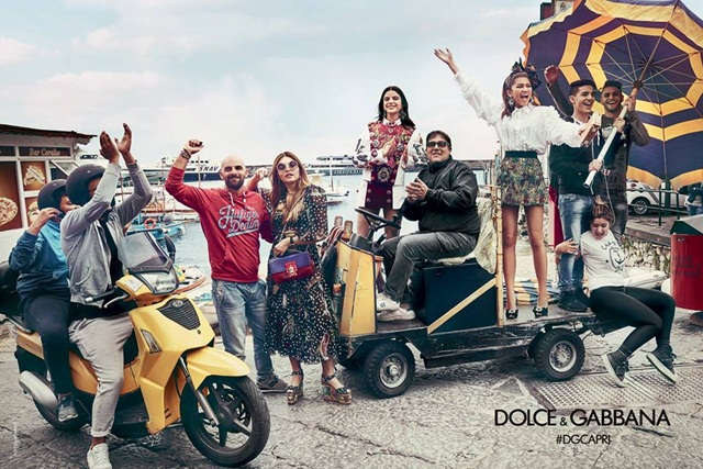 Zendaya, Sonia Ben Ammar, Thylane Blondeau untuk Kempen Musim BUnga 2017 Dolce & Gabbana Foto: Franco Pagetti