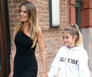 Heidi Klum Bersama Anak Sulungnya di NY