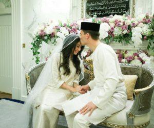 Tun Aminah Menikahi Dennis Muhammad Dalam Upacara Penuh Beradat