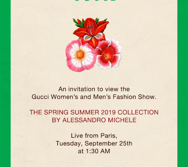 Minggu Fesyen Paris: Gucci Spring/Summer 2019