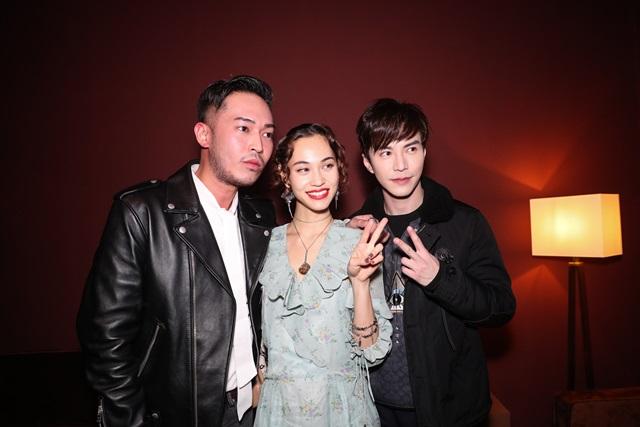 Jack Wang, Kiko Mizuhara, &  Lawrence Wong
