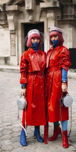 Fashionista Paris Menentang Kuasa Alam Dengan Pilihan Fesyen mereka