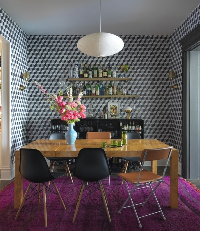 Small High Impact Decor Ideas: 22 Paten & Warna Kertas Dinding Menawan