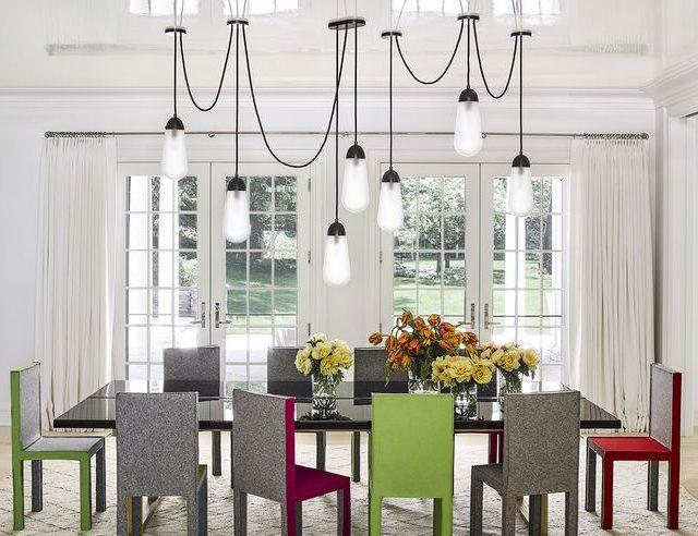 Trend – 15 Rekaan Lampu Candelier di Ruang Makan