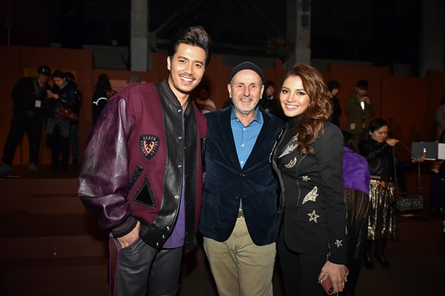 Fattah Amin and Fazura with Ian Bickley, President of Coach Global Business Development (2)