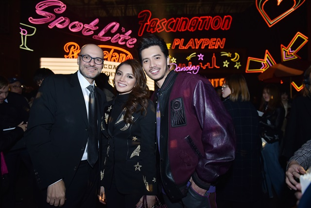 Fattah Amin and Fazura with Victor Luis, Chief Executive Officer, Tapestry Executive Office