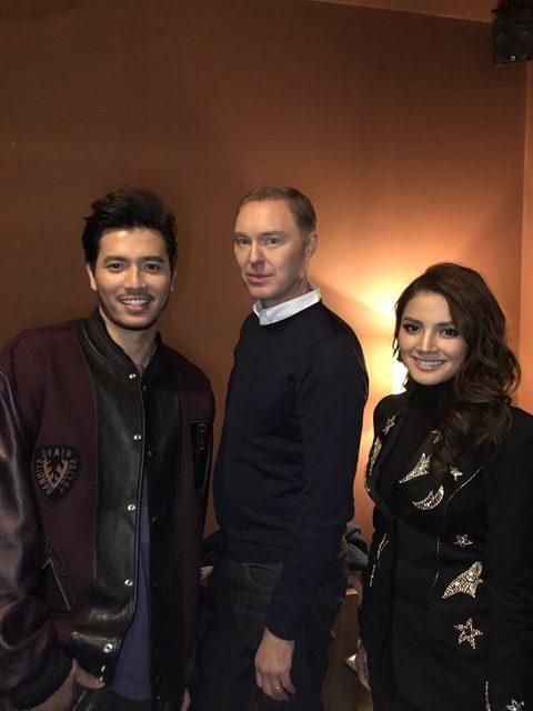 Nur Fazura and Fattah Amin with Coach Creative Director, Stuart Vevers