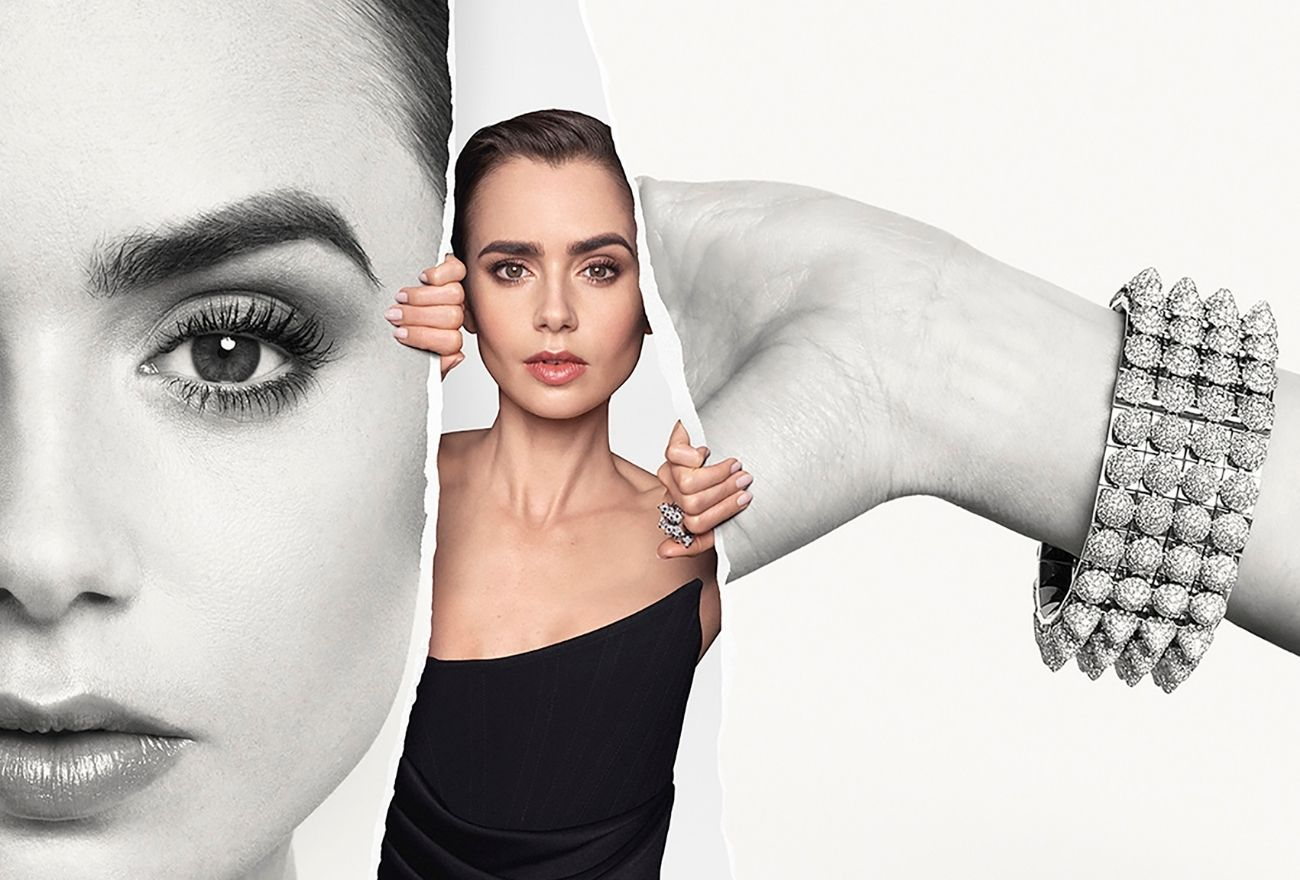 lily collins cartier