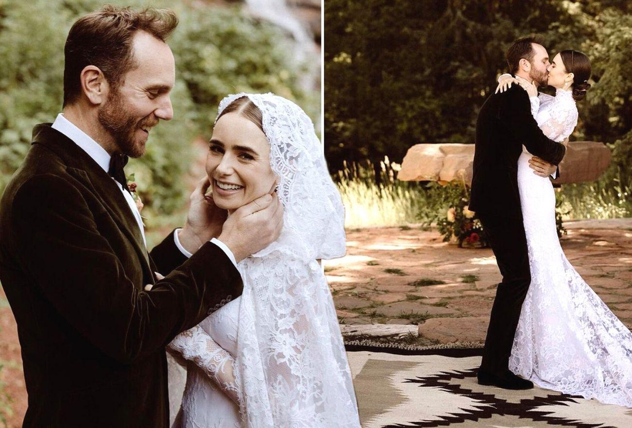 Di Sebalik Upacara Perkahwinan Intim Lily Collins
